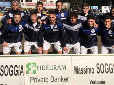 Verbania Calcio la formazione scesa in campo contro il Trino
