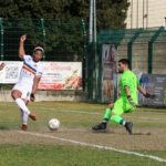 Verbania Calcio - Accademia Borgomanero: gol di tacco di Kambo