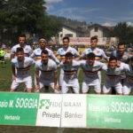 La formazione del Verbania Calcio schierata in campo contro Arona Calcio