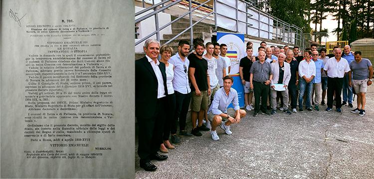 Decreto Regio nascita Verbania e la squadra Verbania Calcio