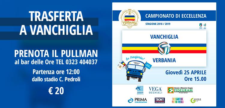 Verbania Calcio - Vanchiglia trasferta in pullman