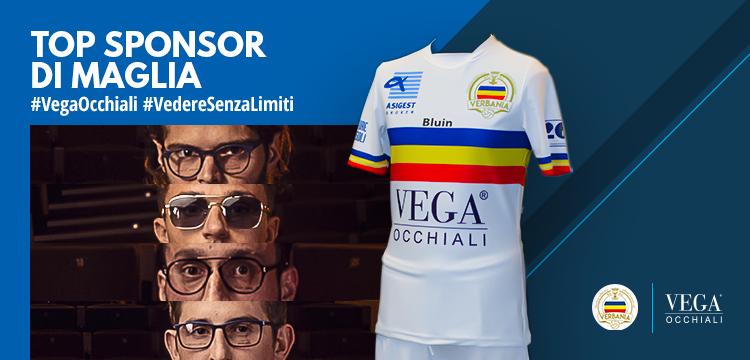 Vega Occhiali con Verbania Calcio anche in Serie D come Top Sponsor di maglia
