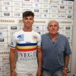Carlo Bottazzi insieme al DG del Verbania Calcio Fassoli