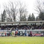 Lo Stadio Carlo Pedroli del Verbania Calcio durante una partita