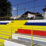 Verbania Calcio, lavori Stadio Pedroli: verniciatura gradinata