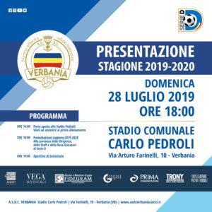L'invito alla presentazione della nuova stagione 2019-2020 del Verbania Calcio