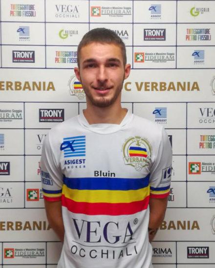 Alessandro Ottina, difensore del Verbania Calcio per la Stagione 2019-2020 in Serie D