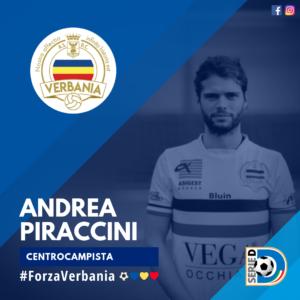 Andrea Piraccini Centrocampista Verbania Calcio Stagione 2019-2020 Serie D