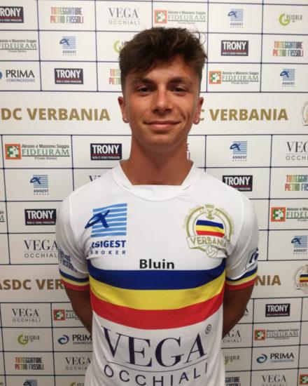 Carlo Bottazzi, attaccante del Verbania Calcio per la Stagione 2019-2020 in Serie D
