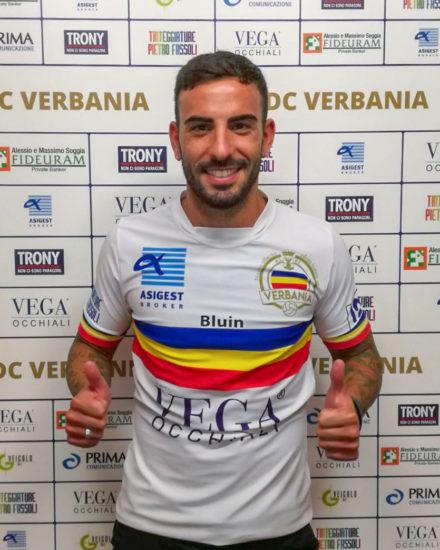 Cristian Bellini, centrocampista del Verbania Calcio per la Stagione 2019-2020 in Serie D
