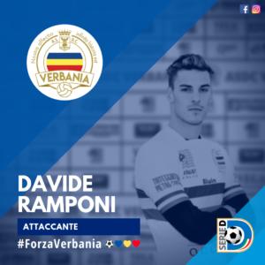Davide Ramponi Attaccante Verbania Calcio Stagione 2019-2020 Serie D