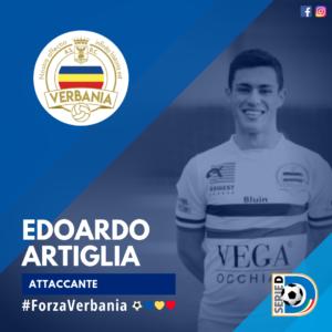 Edoardo Artiglia Attaccante Verbania Calcio Stagione 2019-2020 Serie D