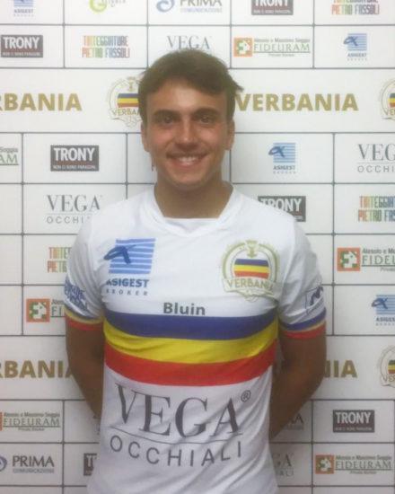 Giacomo Cecon, centrocampista del Verbania Calcio per la Stagione 2019-2020 in Serie D