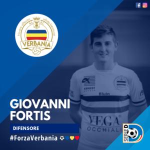 Giovanni Fortis Difensore Verbania Calcio Stagione 2019-2020 Serie D