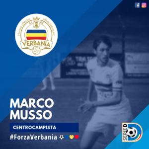 Marco Musso Centrocampista Verbania Calcio Stagione 2019-2020 Serie D