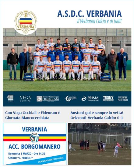 Newsletter 01 Verbania Calcio del Campionato di Eccellenza: Giornata Biancocerchiata contro Accademia Borgomanero