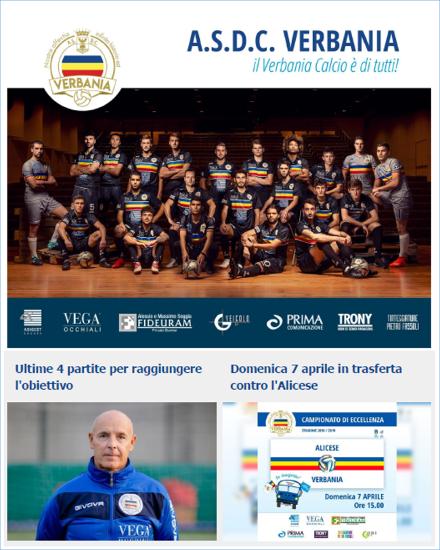 Newsletter 04 Verbania Calcio del Campionato di Eccellenza: Alicese-Verbania Calcio