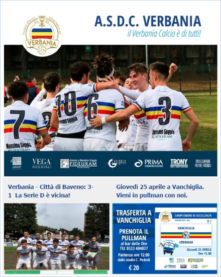 Newsletter 05 Verbania Calcio del Campionato di Eccellenza: in trasferta Vanchiglia-Verbania Calcio