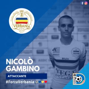 Nicolo Gambino Attaccante Verbania Calcio Stagione 2019-2020 Serie D