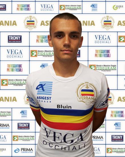 Nicolo Gambino attaccante Verbania Calcio per la Stagione 2019-2020 in Serie D