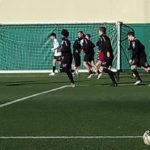 La Juniores Verbania Calcio in preparazione in campo