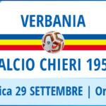 Locandina Verbania - Calcio Chieri 1955, in campo domenica 29 settembre al Pedroli