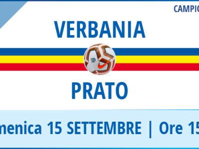 Verbania - Prato la locandina della partita di Serie D del 15 settembre allo Stadio Pedroli