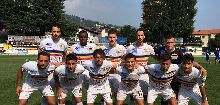 Verbania Calcio - Prato la formazione scesa in campo nella terza giornata di Serie D