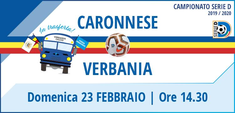 Caronnese - Verbania Calcio Campionato Serie D 23 Febbraio 2020