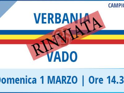 Verbania Calcio-Vado Campionato Serie D Rinvio