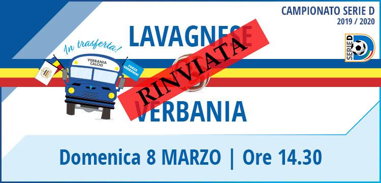Lavagnese - Verbania Calcio Campionato Serie D 8 Marzo 2020 Rinvio