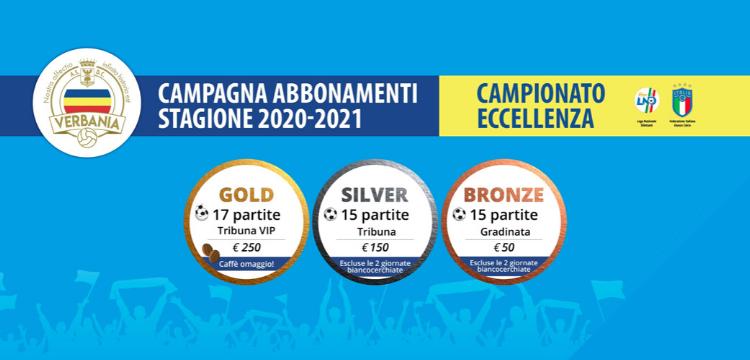 Verbania Calcio Immagini News Campagna Abbonamenti 2020-2021