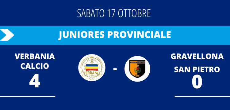 Verbania Calcio Gravellona San Pietro Risultato Juniores Provinciale
