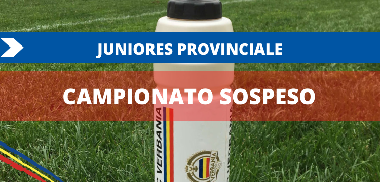 Verbania Calcio Juniores Provinciale U19 Sospensione Campionato